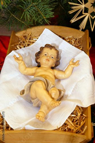 Weihnachtsgrüße Christkind.Christmas Christ Child In A Manger Weihnachten Christkind In Der