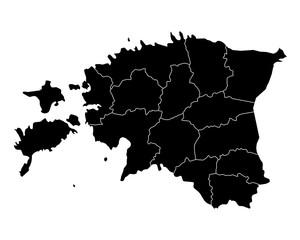 Karte von Estland