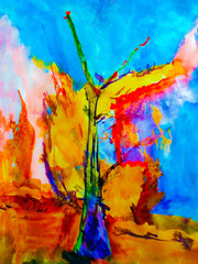 Color abstract tree