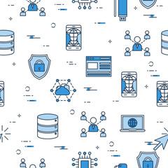Seamless Pattern - Internet Technology icons