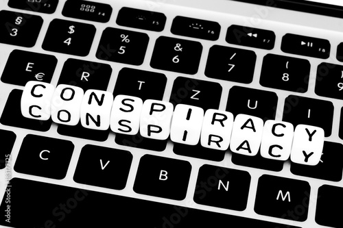 Conspiracy Symbol On Keyboard Stock Photo And Royalty Free Images