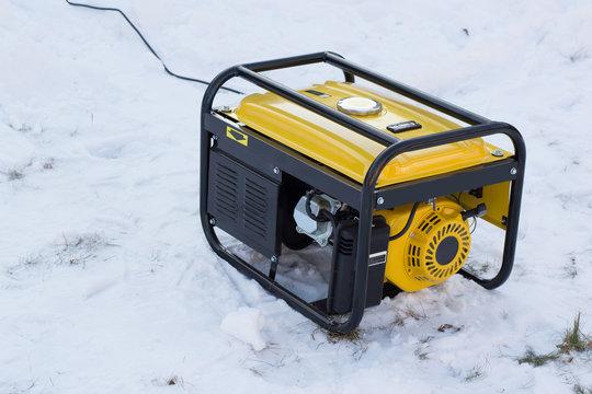 gasoline generator on snow