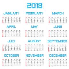 2018 Business Calendar