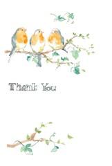 ロビンと木の葉、カード、サンキューカード