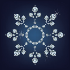 Snowflake made a lot of from diamonds.