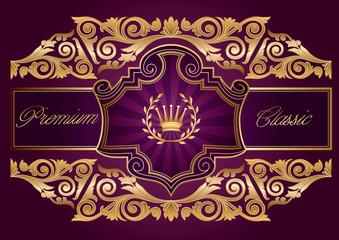 Golden ornate decorative design
