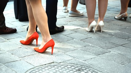 women on high heels