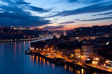 Porto, Portigal, photo de nuit