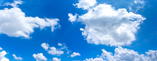 fluffy cloud is floating in the blue sky