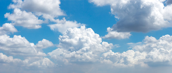 Background of cloud full in the blue sky