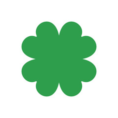 Four leaf clover. Vector icon. St Patricks day. Clover silhouette.