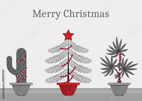 in a christmas time every plant is a christmas tree a cactus spruce and - Cactus Christmas Decorations