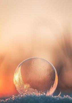 frozen Bubble in Winter