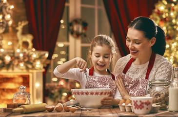 cooking Christmas cookies
