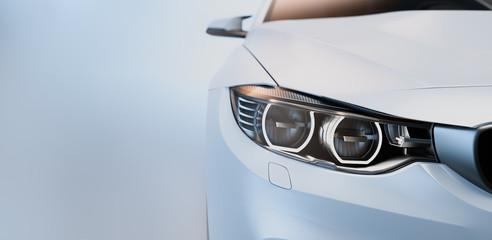 White sports car.