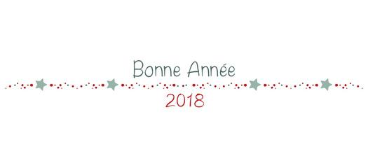 BONNE ANNÉE 2018 frise