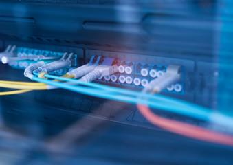 Fiber optic communication transmitting information
