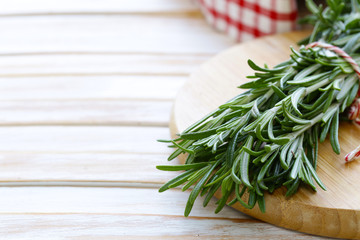 fresh green fragrant herb rosemary