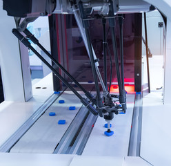 robot working in factory,Conveyor Tracking Controler of robotic hand.