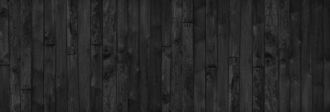 wood black table background. dark top texture blank for design