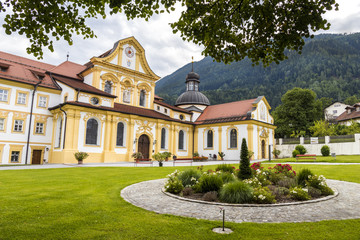 Stift Stams, a baroque Cistercian abbey in the municipality of Stams, state of Tyrol, western Austria