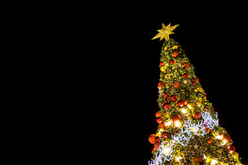 Christmas background. celebration of merry xmas and happy new year festiver.