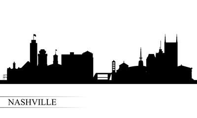 Nashville city skyline silhouette background