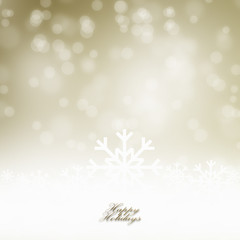 Abstract Golden Christmas Background
