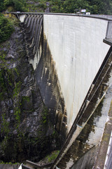 The Contra Dam, also known as the Verzasca Dam or the Locarno Dam, an arch dam on the Verzasca River in Ticino, Switzerland. A popular bungee jumping venue after the James Bond film GoldenEye