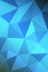 Light blue shining triangular pattern Low poly. The completely new template can be used for your brand. Vector eps 10.