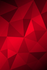 Dark Red Low poly crystal background. Polygon design pattern. Vector eps 10.