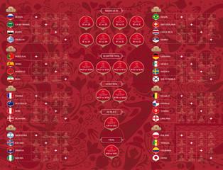 Match schedule, vector illustration