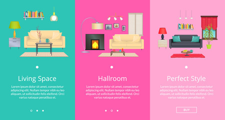 Perfect Style and Living Space Vector Illustration