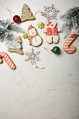 Sweet christmas gingerbread cookies