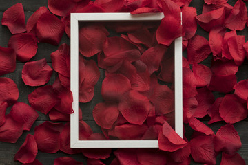 Rose Petals and Frame