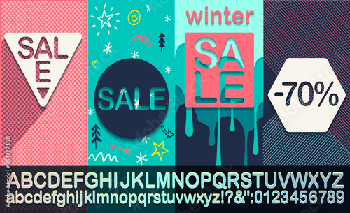 winter sale modern banner template for social media and mobile apps