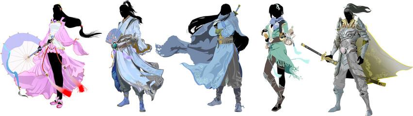 ドラクエっぽいRPGのヒーローシルエット