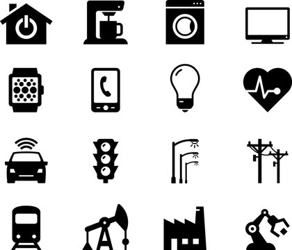 Internet Of Things Icons - Black Series
