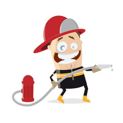 funny firefighter clipart
