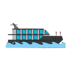 Luxury yacht isolated icon vector illustration graphic design