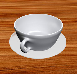 White Coffee Cup & Saucer
