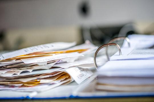 Steuererklärung, Belege, Quittungen, Ordner, Chaos,