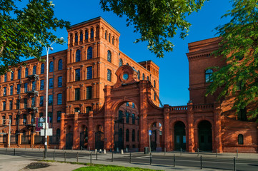 Obraz Stary budynek fabryczny w Łodzi - fototapety do salonu