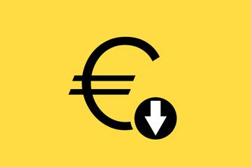 Euro falls illustration vector