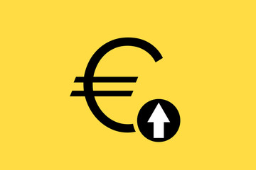 Euro rise illustration vector