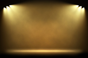 Six side warm light spotlights
