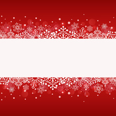 Christmas red banner with white copy space