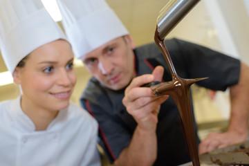 preparing homemade chocolate