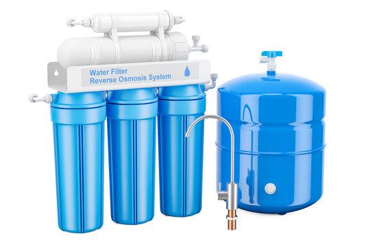 Modern Reverse Osmosis System, 3D rendering