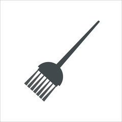 Broomstick icon. Vector illustration
